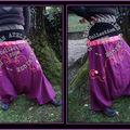 Sarouel violet (détails)