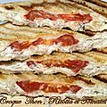 Croque thon , ricotta et tomates