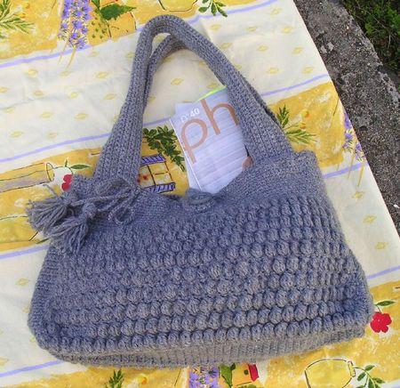 Sac crochet astrakan