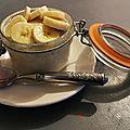 Crème glacée banane-vanille