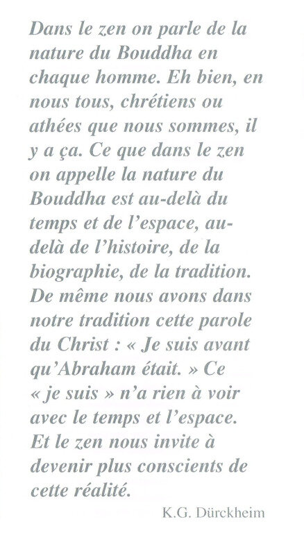 Citation de K G Durckheim