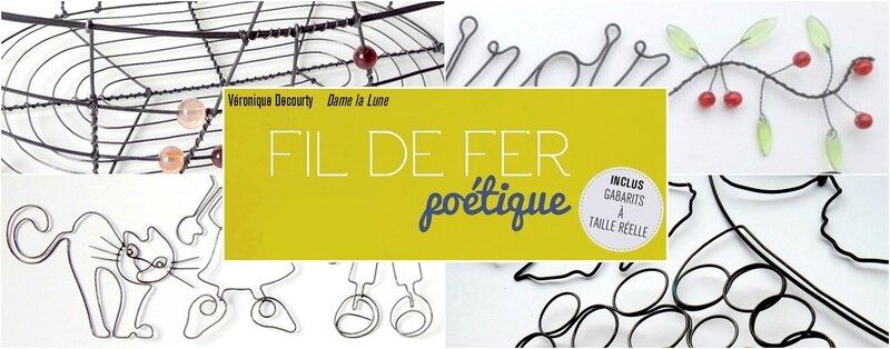 fil de fer poétique__edition Carpentier_auteur Véronique Decourty_dame la lune_livre loisir creatif_fil de fer