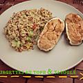 Courgettes au tofu & taboulé maison