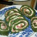 Roulé saumon epinard