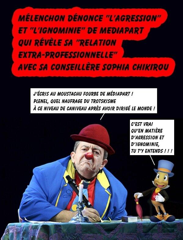 mélenchon-clown bleu-bulles2