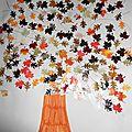 Nos arbres d'automne en gommettes