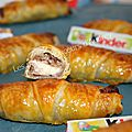 Mini croissants au kinder chocolat