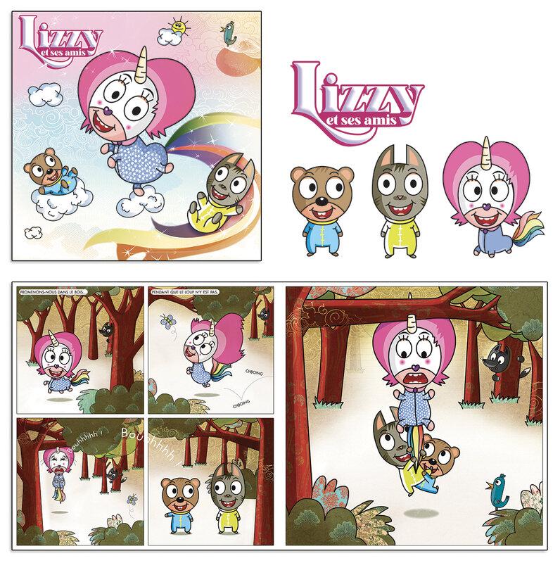 Ça avance pour Lizzy la petite licorne étourdie.