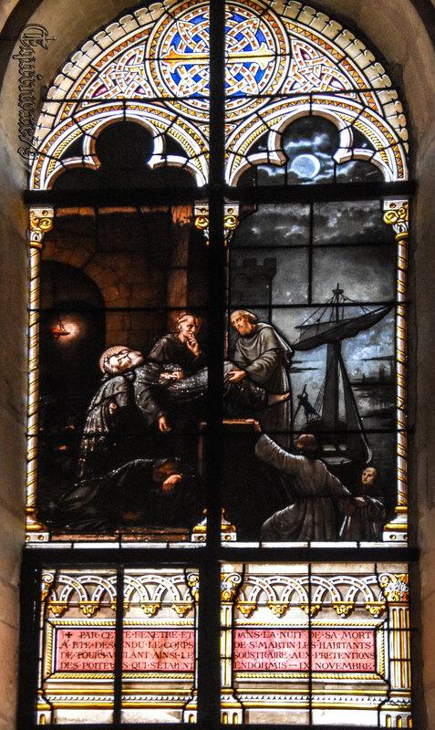 Les tourangeaux dérobent le corps de Saint Martin aux Poitevins
