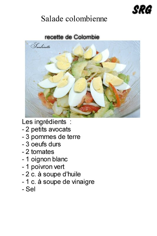 Salade colombienne (page 1)