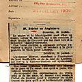 L'argus de la presse . 1909.le peuple francais.