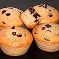 Muffins poires pépites de chocolat (sans oeuf et sans mg ajoutée)
