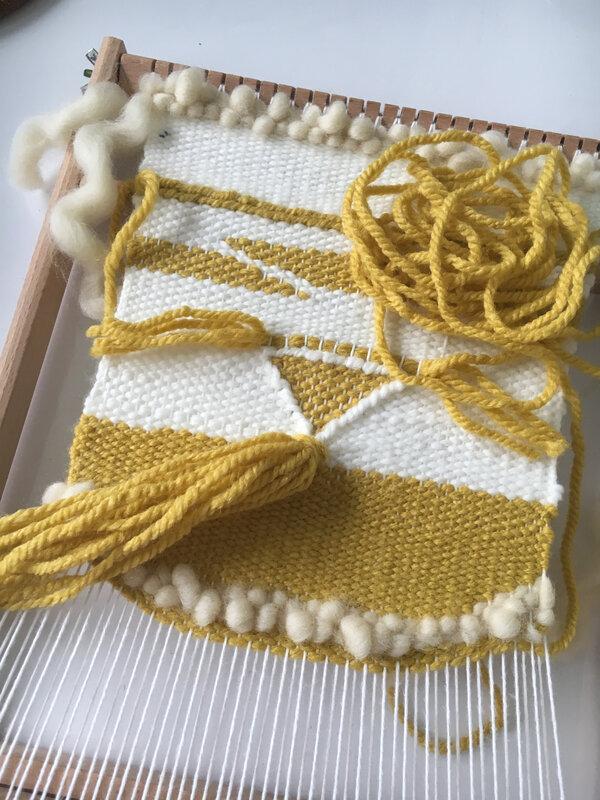 Tissage jaune