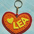 Porte-clés cœur personnalisé