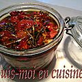 Tomates confites à l'huile d'olive, basilic & ail