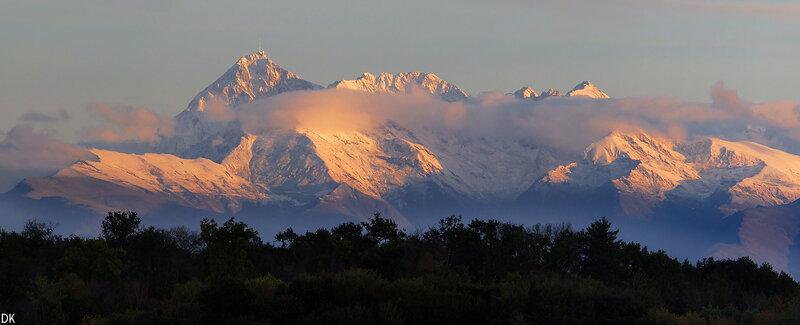 Massif de Bigorre au matin