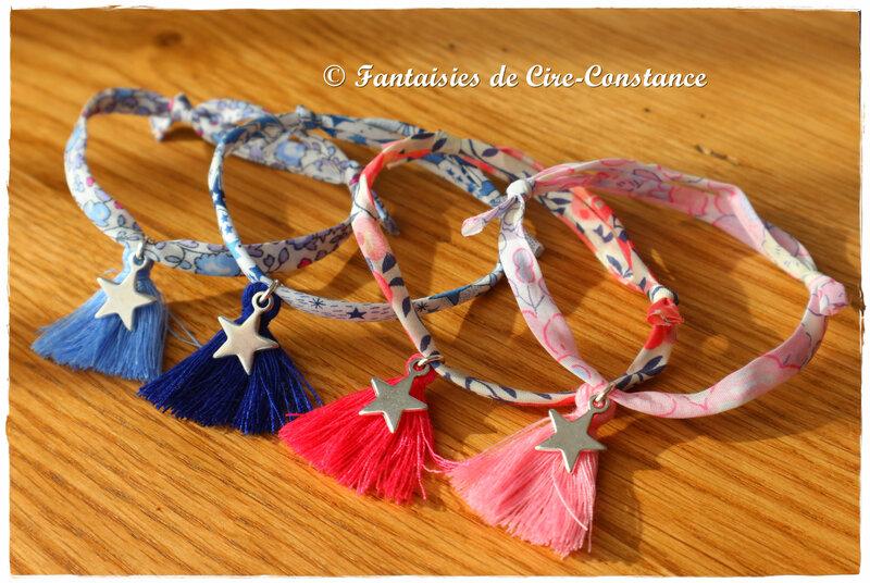 Bracelets pompons étoiles