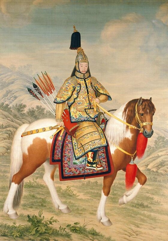 Giuseppe Castiglione (Italian 1688–1766, worked in China 1714–66), Qianlong Emperor in ceremonial armour on horseback