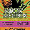 Concours rock legends : des places de concert pour un spectacle...légendaire à l'olympia !