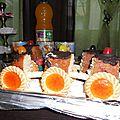 Gâteaux en forme de train