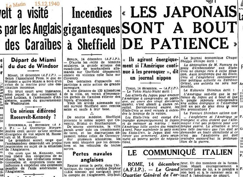 1940 15 dec le Matin blitz, windsor kennedy