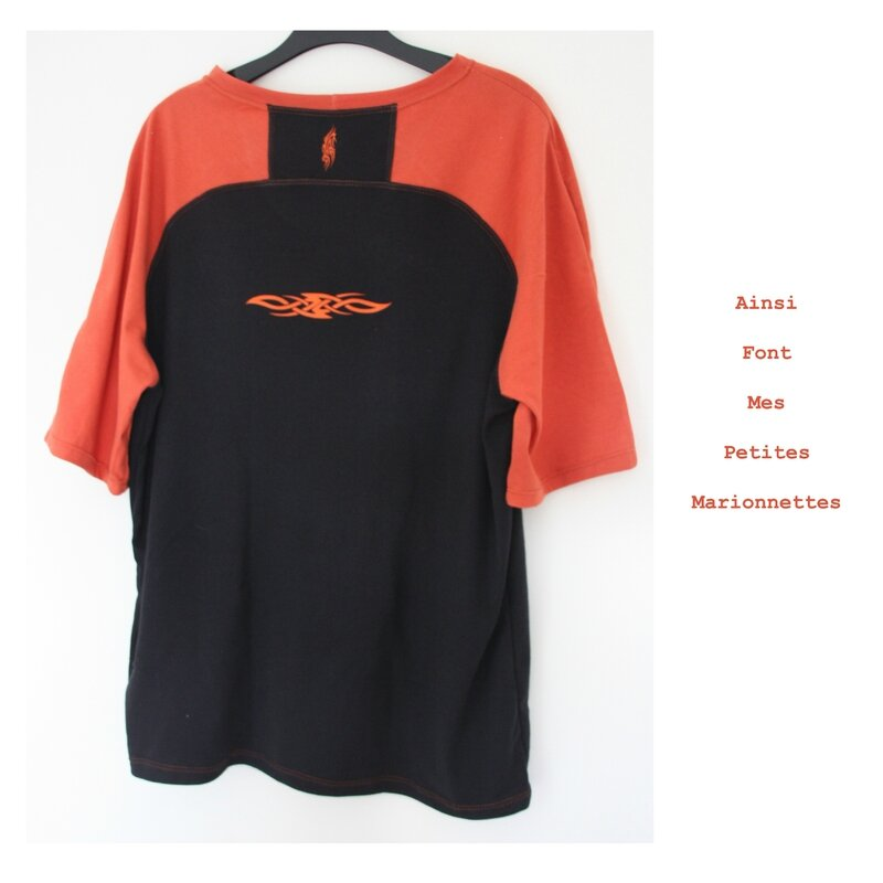 tee shirt orange tribal charly 2