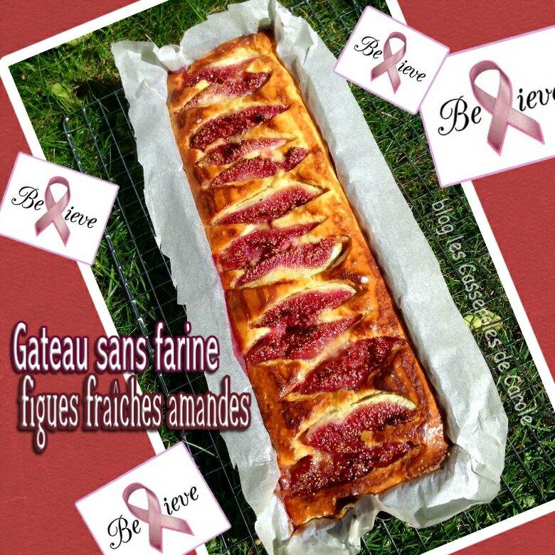 gateau sans farine figues fraiches et amandes octobre rose