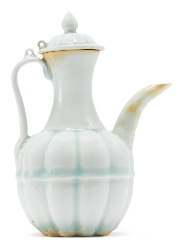 A 'Qingbai' lobed ewer and cover, Song Dynasty