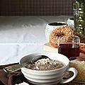 Soupe de champignons au brie