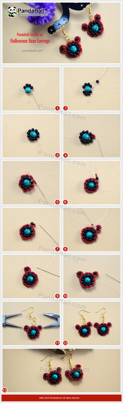 3-PandaHall-Tutorial-on-Halloween-Bear-Earrings