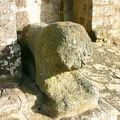 Lion de pierre, église de Toulx