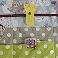 semainier en tissu, handmade week organiser (1)