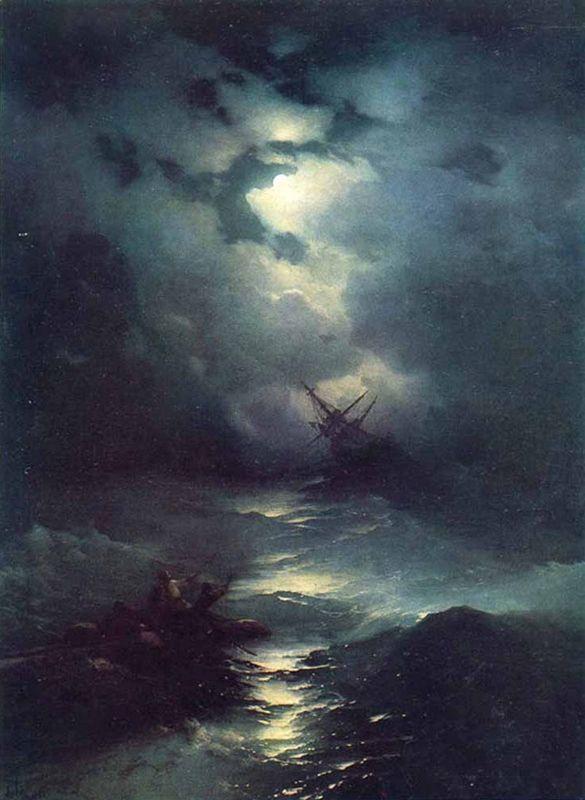 Aivasovski, orages dans la mer du Nord 1864