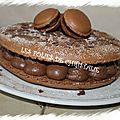 Macaron gâteau au chocolat