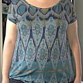 Tee shirt summer basic / navajo et ikat style