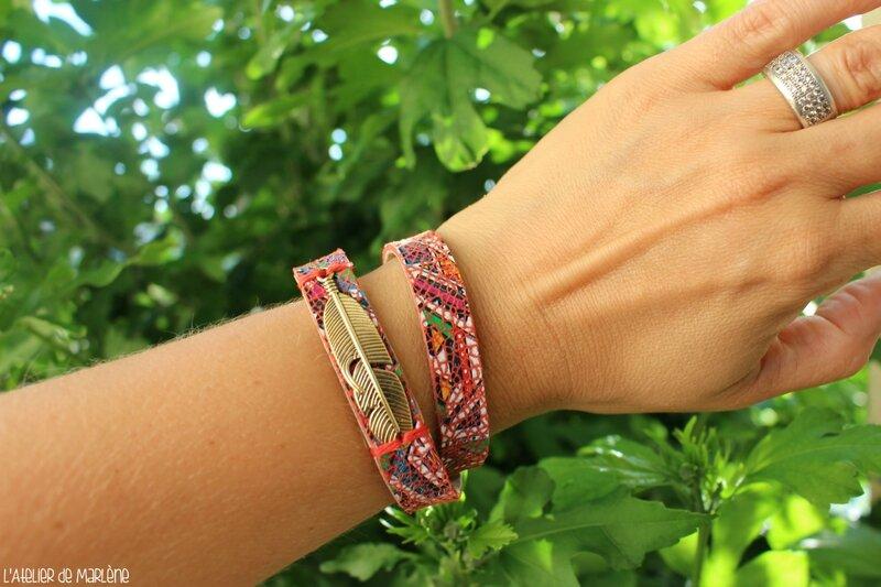 bracelet azteque rouge porté