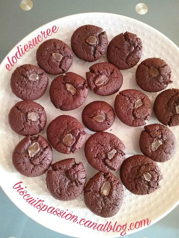 Financiers au chocolat et gingembre confit 084