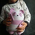 Pink panda en crochet
