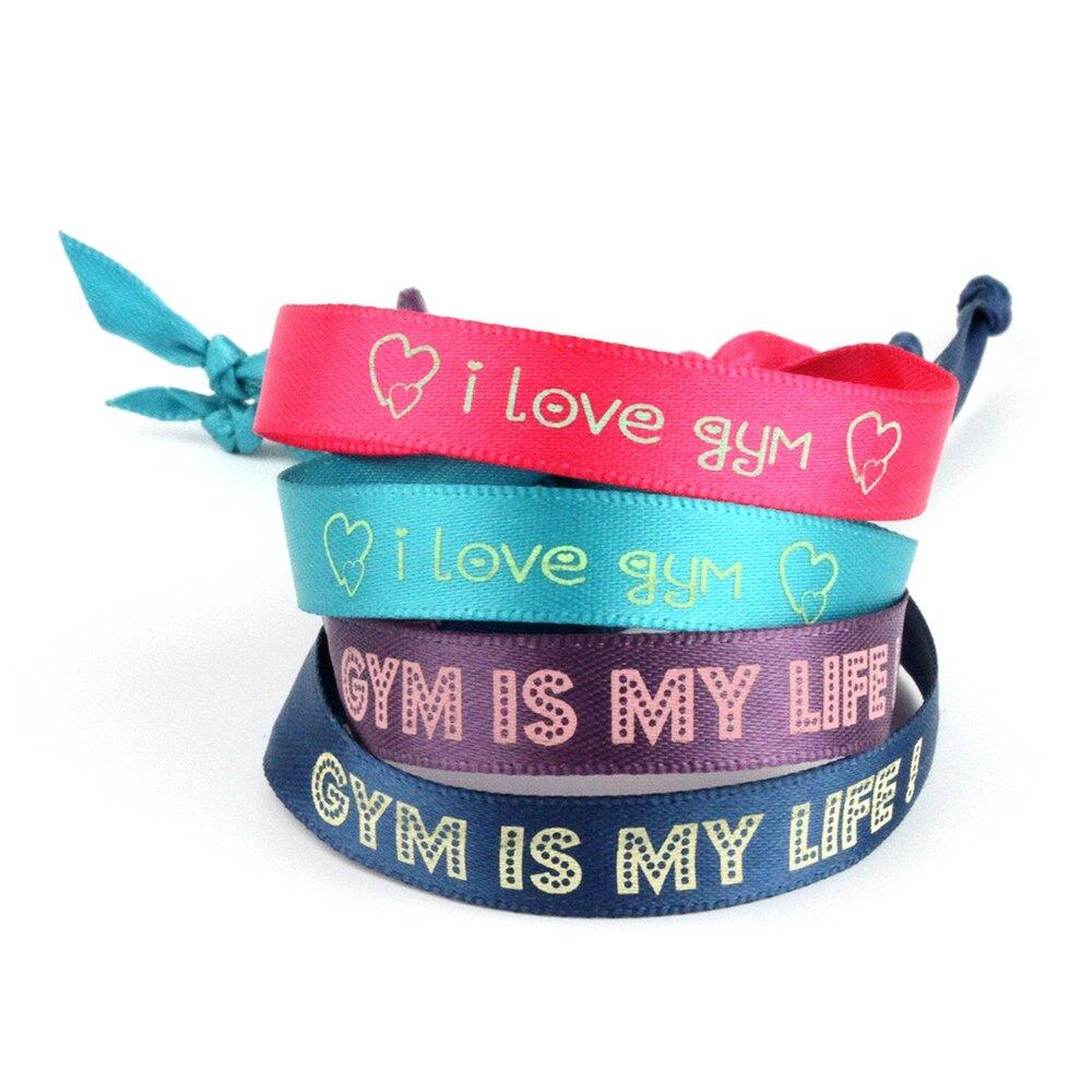 bracelet satin gym