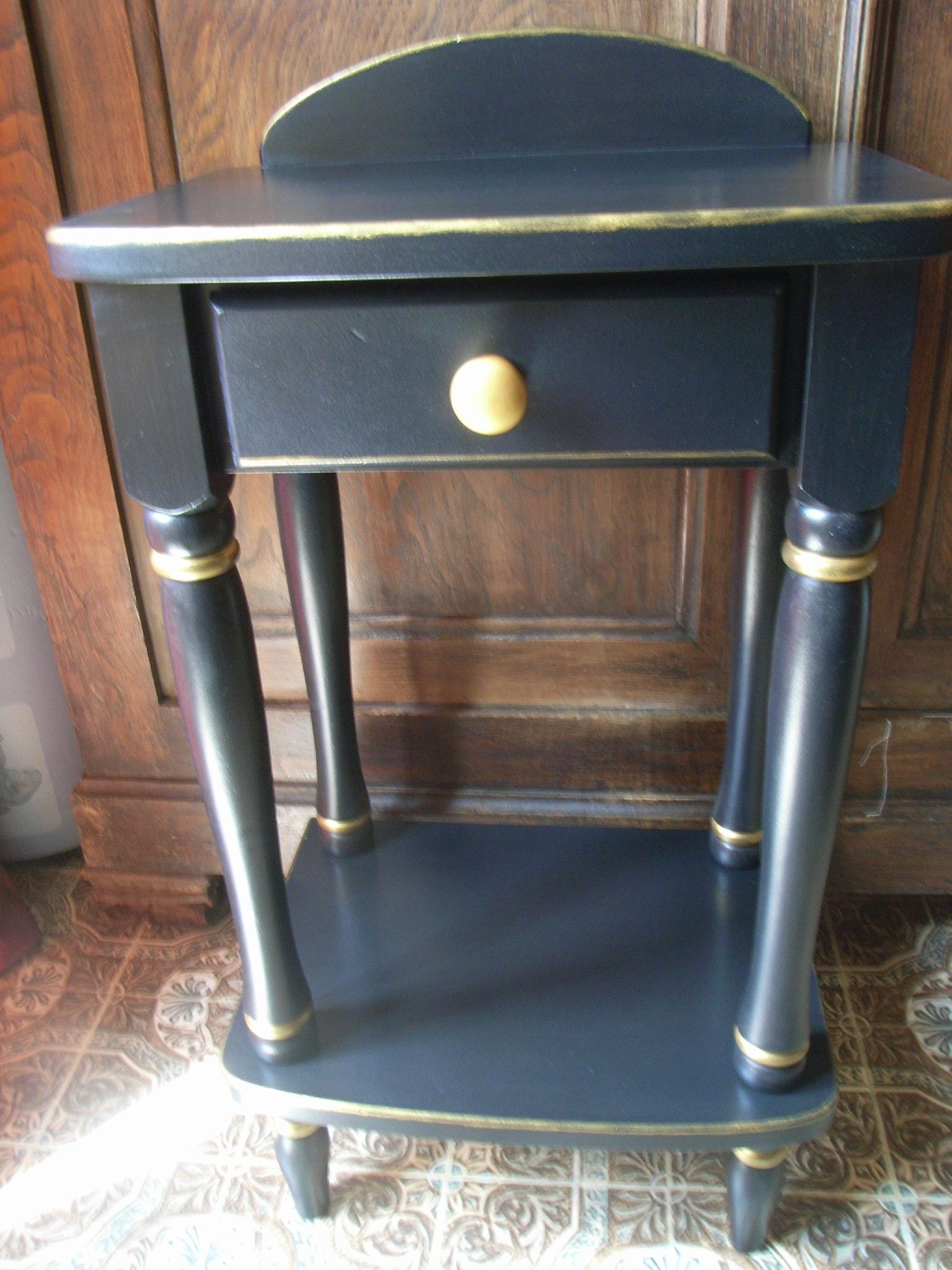 Meuble Repeint En Noir meuble noir & or - décoration du bontemps