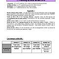 Plannings de charnècles (mai - juin)