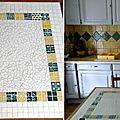 Mosaique table cuisine Francoise