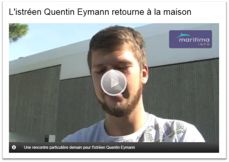 Quentin Eymann de retour...