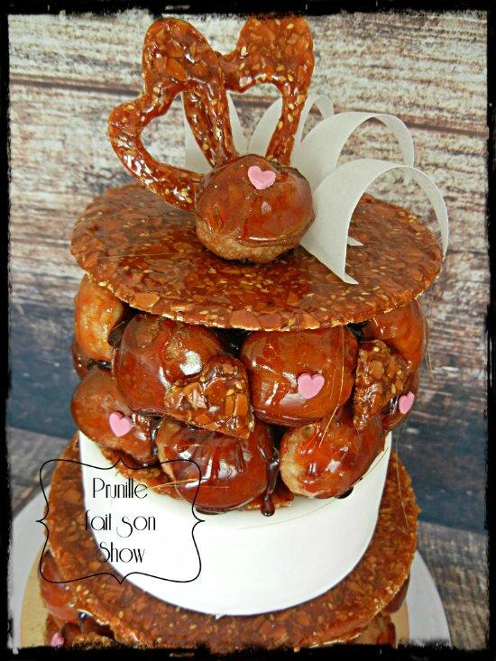 pièce montée choux gateau wedding cake prunillefee 2