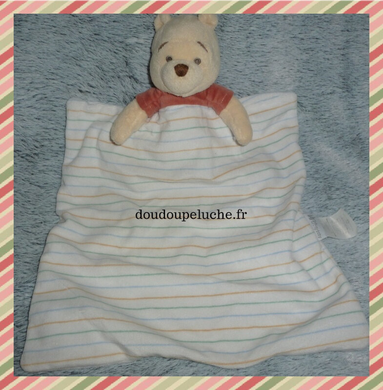 doudou couverture Winnie l'ourson Disney, doudoupeluche.fr