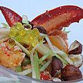 Salade de homard aux clémentines