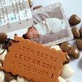 Biscuit personnalisé, faire-part de naissance !