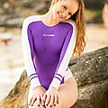 Kandice in Realise swimsuit N-015 Purple side