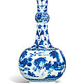 A blue and white bottle vase, transitional period, circa 1630-1650