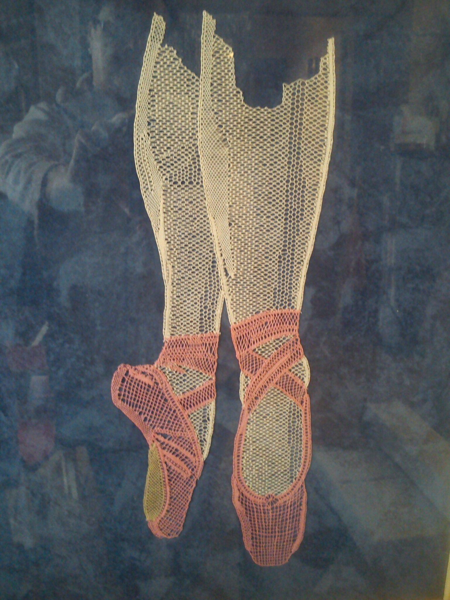chaussons de danse, création Michel Jourde